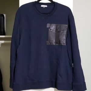 Valentino Navy Blue Men's Pocket Sweatshirt (XL)